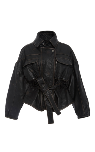 Medium marissa webb black kayla leather anorak