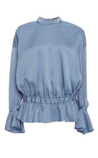 Medium marissa webb blue sullivan open back blouse