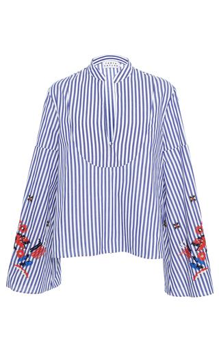 Medium tanya taylor stripe embroidered menswear stripe klara top