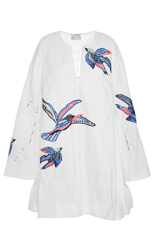 Medium tanya taylor red bird embroidered jackie dress