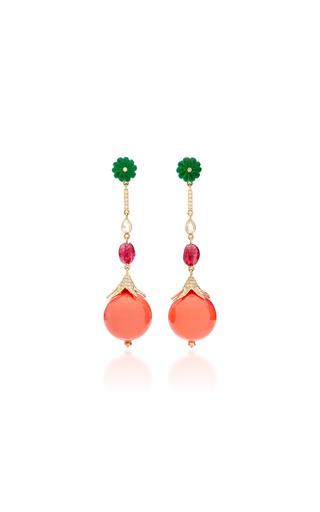 Medium hanut pink swinging sister earrings