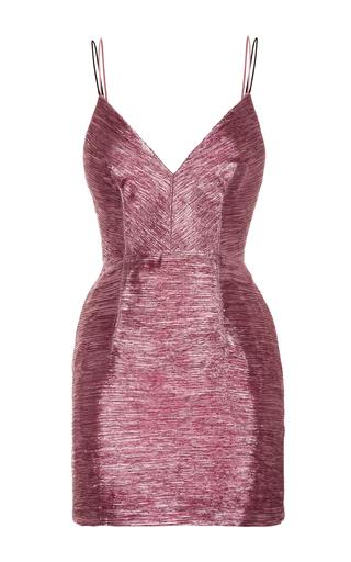 Medium alex perry pink blaze lurex bikini fitted mini