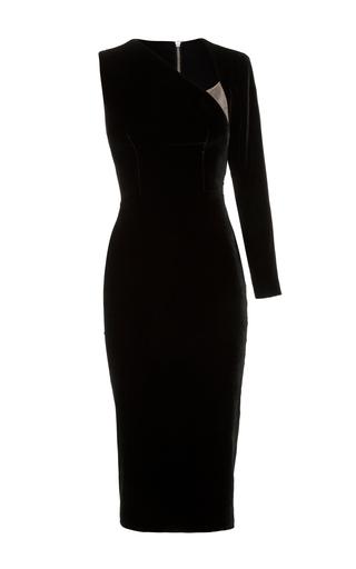 Medium alex perry black phoenix one sleeve lady dress