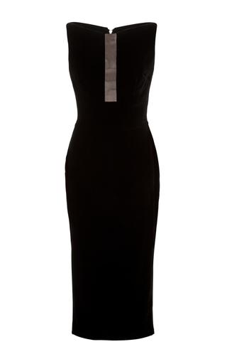 Medium alex perry black nixon boat neck lady dress