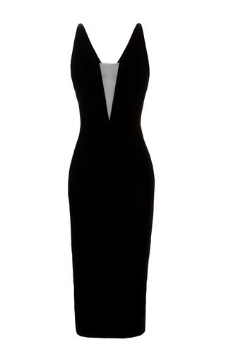 Medium alex perry black rorey v bodice lady dress