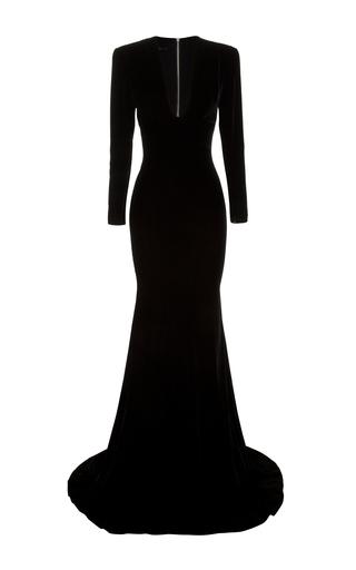 Medium alex perry black alex long sleeve gown