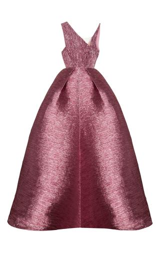 Medium alex perry pink cassius lurex asymmetrical bodice pleat gown