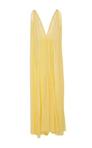 Medium kalita yellow clemence sunshine plunge maxi dress