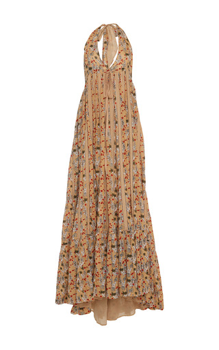Medium kalita print rooftop printed runaway halter dress