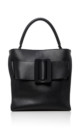 Medium boyy black devon leather shoulder bag