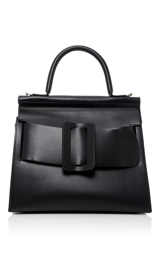 Medium boyy black karl leather shoulder bag 2