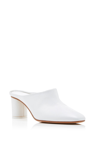 Medium gray matters white micol mule 3