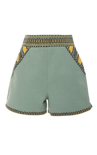 Medium talitha green maasai embroidered shorts