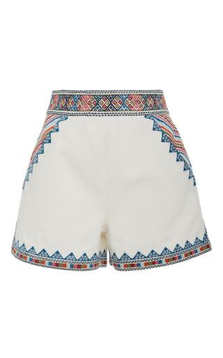 Medium talitha white zoya embroidered shorts