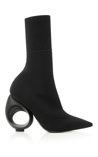 Medium burberry black kimberley stretch knit ankle boots