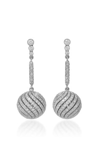 Medium gioia grey diamond swirl drop earrings