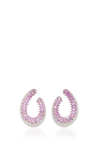Medium hueb pink mirage earring with pink sapphire