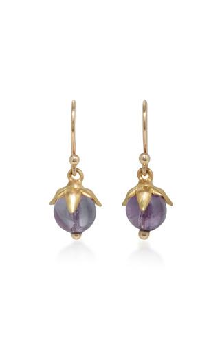 Medium annette ferdinandsen purple 18k gold amethyst earrings