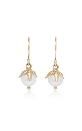 Medium annette ferdinandsen white 18k gold pearl earrings