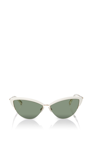 Medium kate young white ally sunglasses