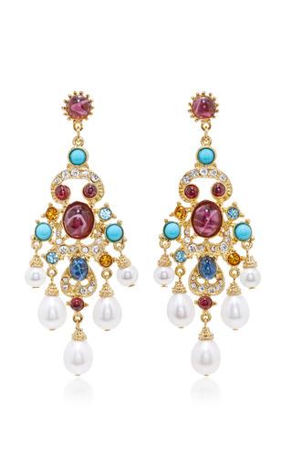 Medium ben amun multi byzantine pearl multi stone earrings 2