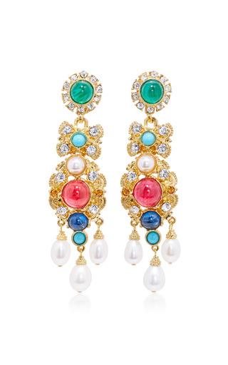 Medium ben amun multi byzantine pearl multi stone earrings 3