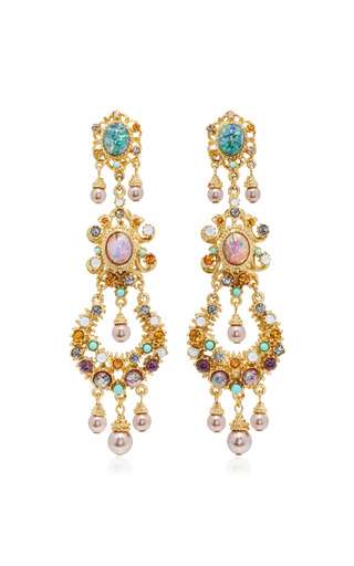 Medium ben amun multi boho chic multi stone earrings 3