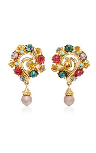 Medium ben amun multi boho chic multi stone earrings