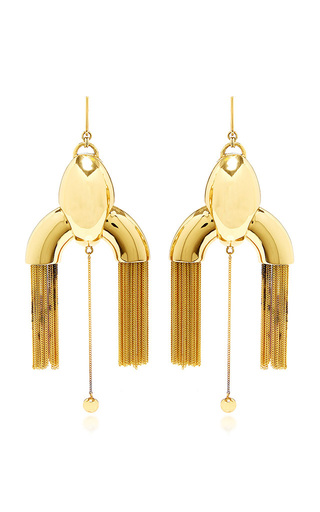 Medium ellery gold anthology large chandelier earrings