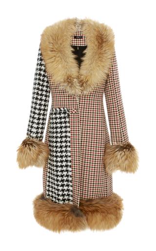 Medium ellery multi idol mixed houndstooth long coat