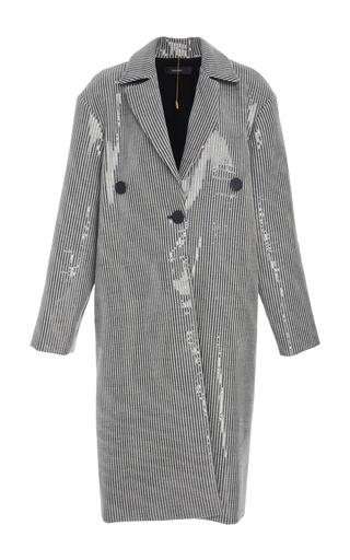 Medium ellery stripe casette sequin embellished coat