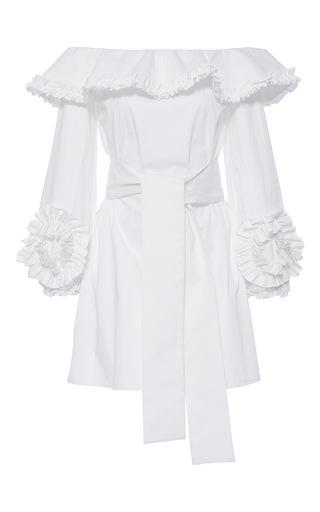 Medium alexis white miquela off shoulder ruffle dress