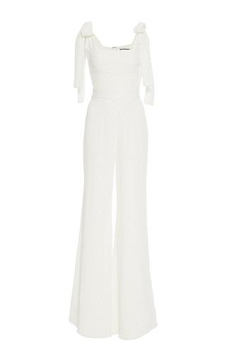 Medium alexis white lincoln bow jumpsuit