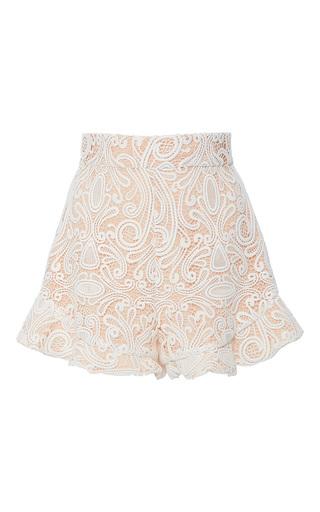 Medium alexis white barron ruffled lace shorts
