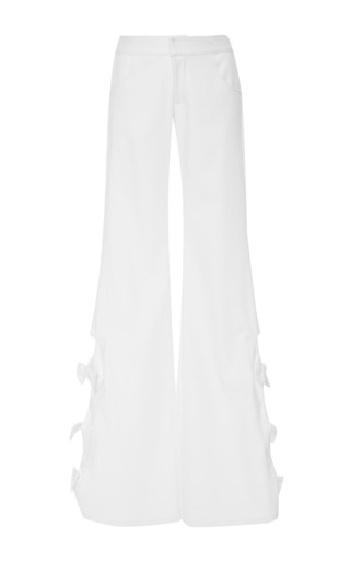 Medium alexis white alexander bow pant