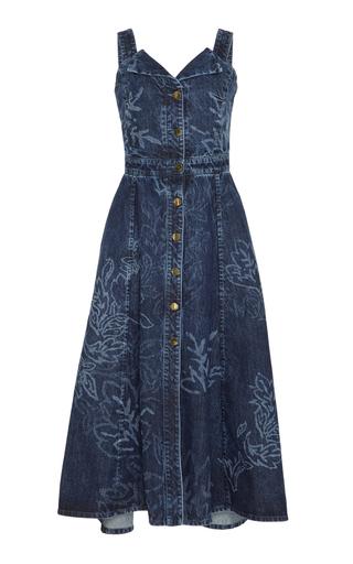 Medium peter pilotto navy printed denim dress