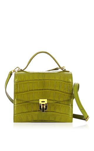 Medium vbh green georgia crocodile shoulder bag