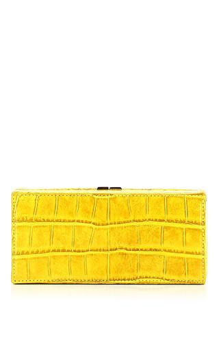 Medium vbh yellow crocodile box clutch 2