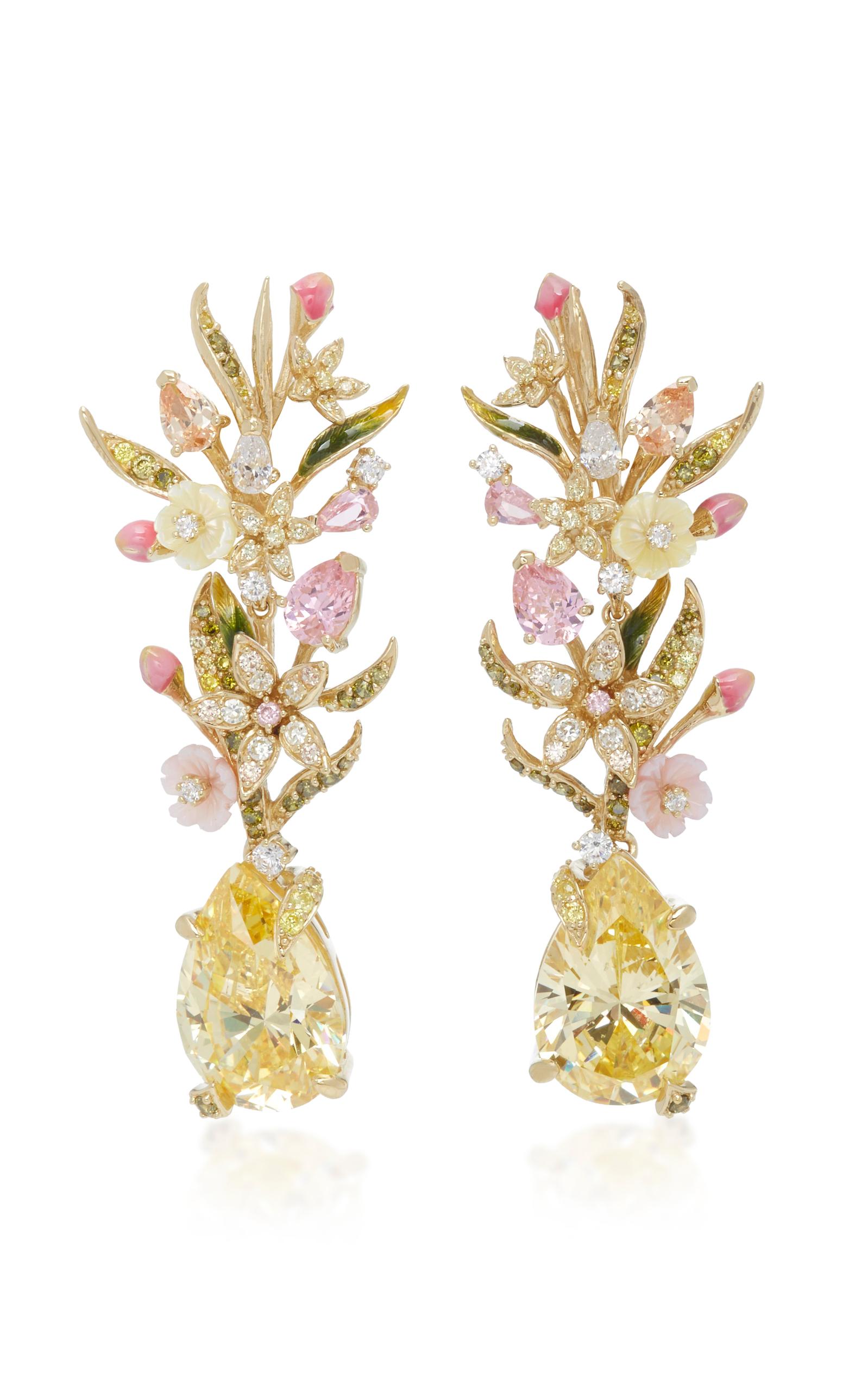 MO Exclusive Rose Peony Earrings Anabela Chan bg4Ey7e