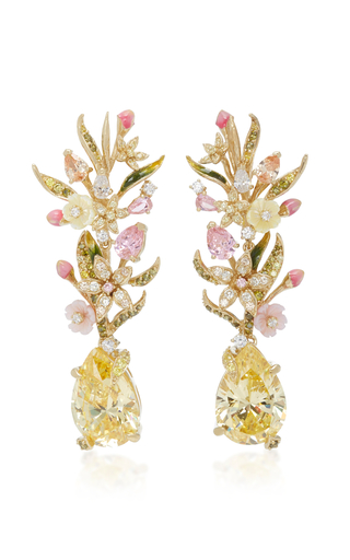 Papillon 18K Rose Gold Vermeil Multi-Stone Earrings Anabela Chan DA7QZ7