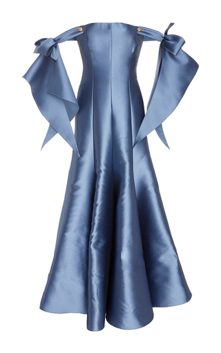 Medium alexis mabille blue off the shoulder gown
