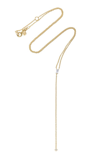 Medium ila collection gold elettra sapphire and diamond lariat necklace
