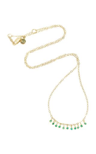 Medium ila collection green daniel 14k gold emerald necklace