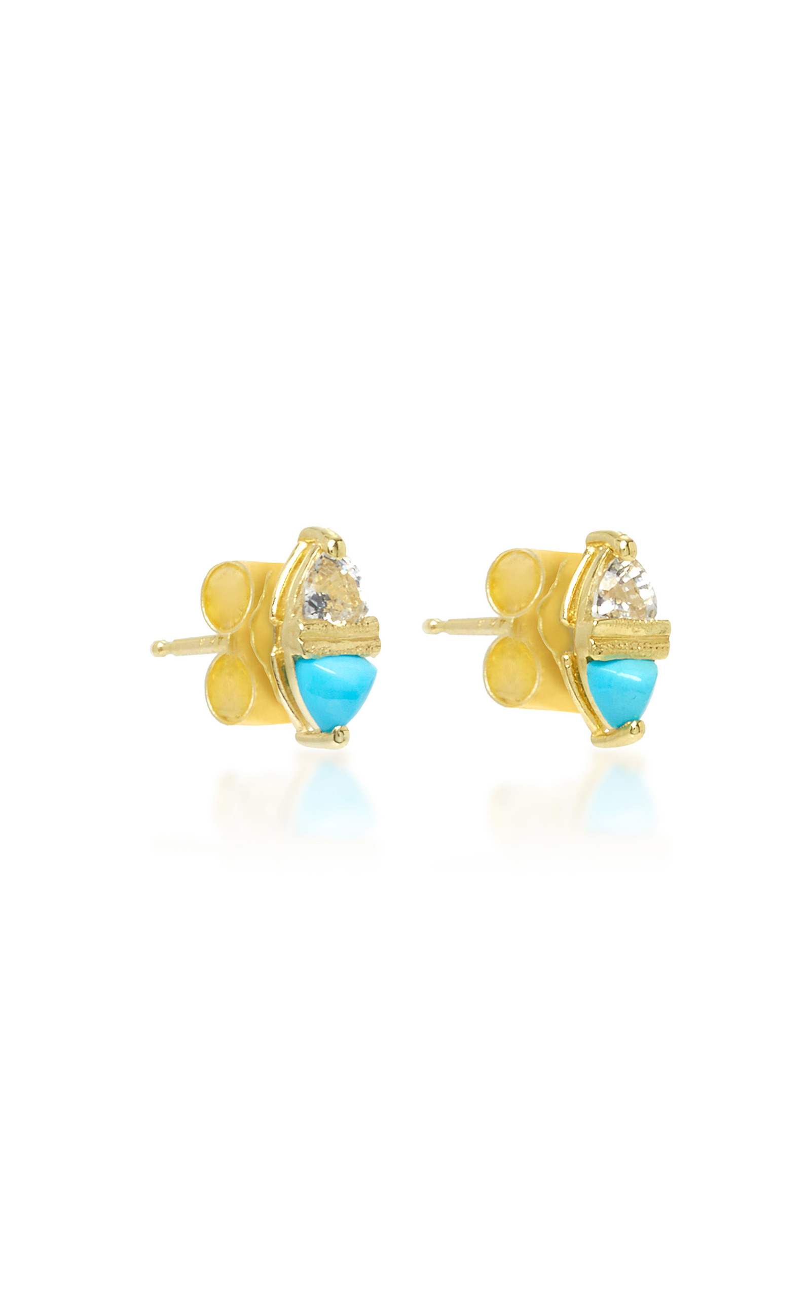 completely turquoise stud earrings bella product