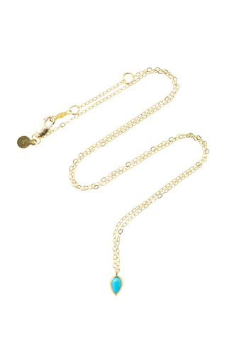 Medium ila collection blue tarina 14k gold turquoise necklace
