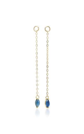 Medium ila collection blue cameron 14k gold sapphire earrings
