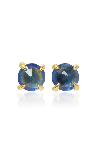 Medium ila collection blue clarence 14k gold sapphire earrings