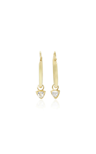 Medium ila collection gold jaylin 14k gold sapphire earrings