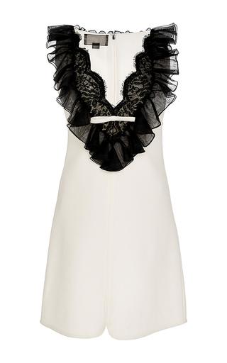 Medium giambattista valli white sleeveless ruffle dress