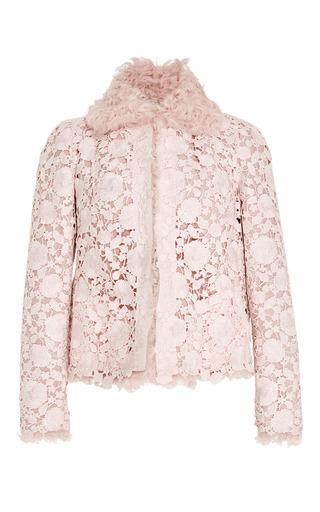 Medium giambattista valli pink macrame lace kalgan jacket